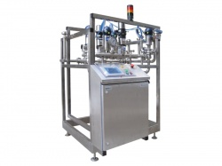 The equipment for normalization of milk and cream in a stream